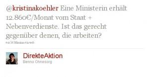 @kristinakoehler Eine Ministerin erhält 12.860€/Monat vom Staat + Nebenverdienste. Ist das gerecht gegenüber denen, die arbeiten?